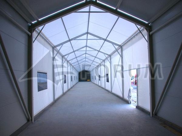 Tent building as a corridor?