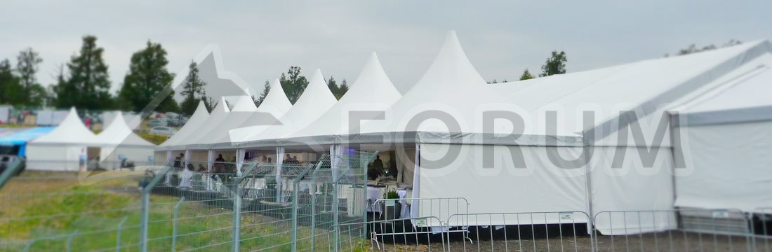 Renting party tents