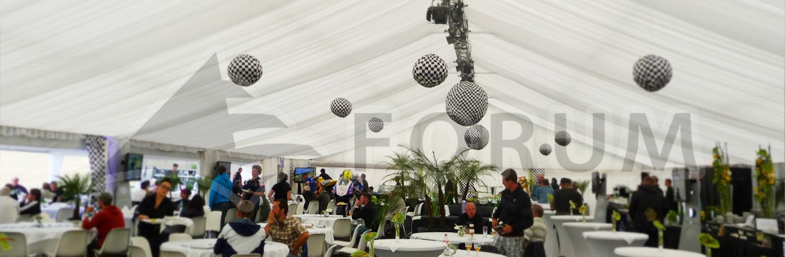 Party tent interiors